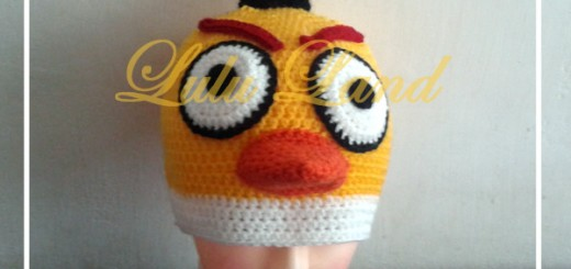 Caciula crosetata Angry Birds Galben
